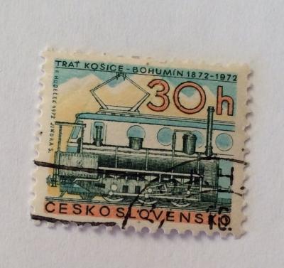 Почтовая марка Чехословакия (Ceskoslovensko ) Centenary of the Kosice-Bohumin railroad | Год выпуска 1972 | Код каталога Михеля (Michel) CS 2059-2