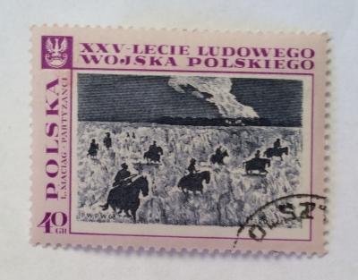 Почтовая марка Польша (Polska) Partisans, by L.Maciag | Год выпуска 1968 | Код каталога Михеля (Michel) PL 1873-2