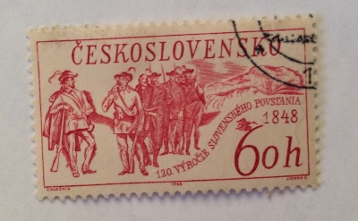 Почтовая марка Чехословакия (Ceskoslovensko ) Slovak Uprising 1848, 120th Anniversary | Год выпуска 1968 | Код каталога Михеля (Michel) CS 1815