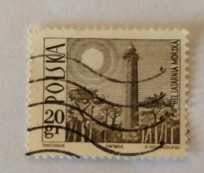 Почтовая марка Польша (Polska) Lighthouse, Hel | Год выпуска 1966 | Код каталога Михеля (Michel) PL 1706-2