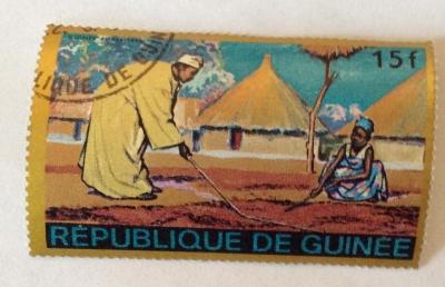 Почтовая марка Республика Гвинея (Rebulique de Guinee) Guinean forest region   Год выпуска 1968   Код каталога Михеля (Michel) GN 474-2