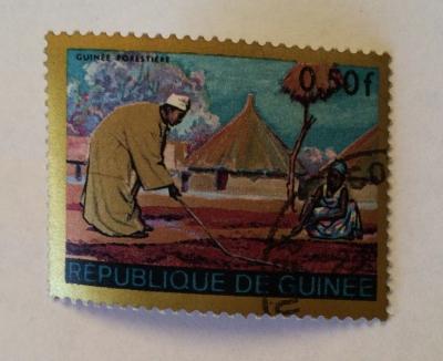 Почтовая марка Республика Гвинея (Rebulique de Guinee) Guinean forest region | Год выпуска 1968 | Код каталога Михеля (Michel) GN 471-2