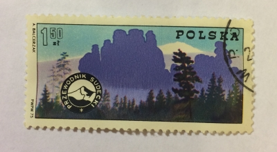 Почтовая марка Польша (Polska) Mountain Guides' Badge and Sudetic Mountains | Год выпуска 1975 | Код каталога Михеля (Michel) PL 2373