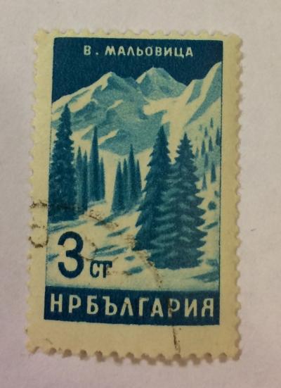 Почтовая марка Болгария (НР България) Pines Malovica Peak | Год выпуска 1964 | Код каталога Михеля (Michel) BG 1472