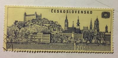 Почтовая марка Чехословакия (Ceskoslovensko) Bratislava | Год выпуска 1967 | Код каталога Михеля (Michel) CS 1679-2