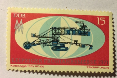 Почтовая марка ГДР (DDR) Cold excavator | Год выпуска 1971 | Код каталога Михеля (Michel) DD 1654