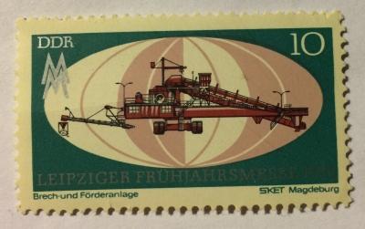 Почтовая марка ГДР (DDR) Conveyor | Год выпуска 1971 | Код каталога Михеля (Michel) DD 1653