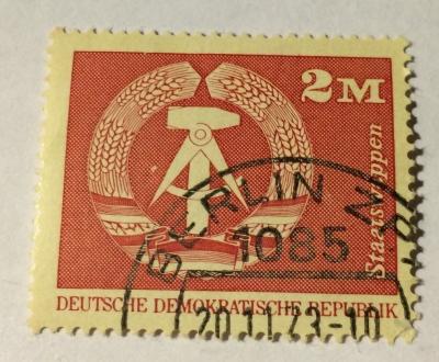 Почтовая марка ГДР (DDR) National coat of arms | Год выпуска 1973 | Код каталога Михеля (Michel) DD 1900