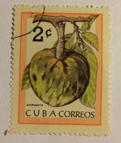 Почтовая марка Куба (Cuba correos) Chirimoya | Год выпуска 1963 | Код каталога Михеля (Michel) CU 860