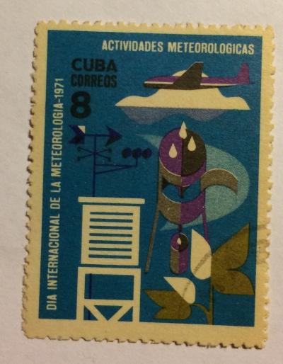 Почтовая марка Куба (Cuba correos) Meteorology   Год выпуска 1971   Код каталога Михеля (Michel) CU 1665
