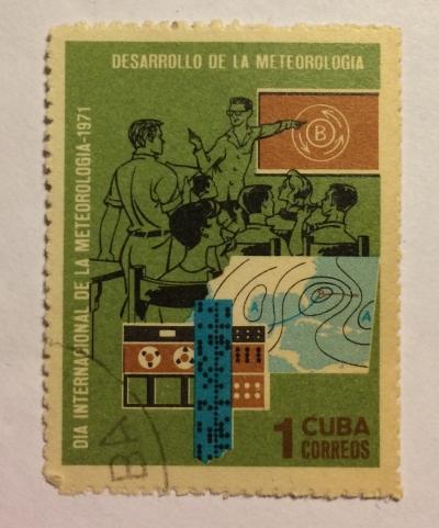 Почтовая марка Куба (Cuba correos) Meteorology   Год выпуска 1971   Код каталога Михеля (Michel) CU 1663