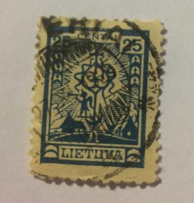 Почтовая марка Литва (Lietuva) Crucifix   Год выпуска 1923   Код каталога Михеля (Michel) LT 190