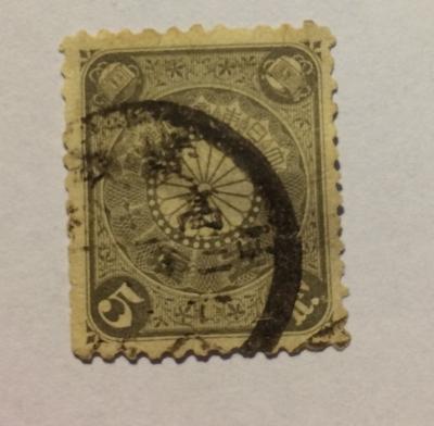 Почтовая марка Япония (Nippon) Chrysanthemum | Год выпуска 1901 | Код каталога Михеля (Michel) JP OK 1