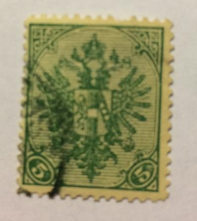 Почтовая марка Босния и Герцеговина Coat of Arms with numbers | Год выпуска 1900 | Код каталога Михеля (Michel) AT-BA 13A