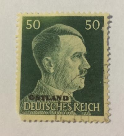 Почтовая марка Германия (Deutiches Reich) Adolf Hitler (1889-1945), Chancellor | Год выпуска 1945 | Код каталога Михеля (Michel) DR 796