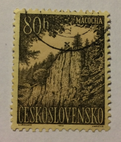 Почтовая марка Чехословакия (Ceskoslovensko ) Macocha mountains | Год выпуска 1963 | Код каталога Михеля (Michel) CS 1421-2