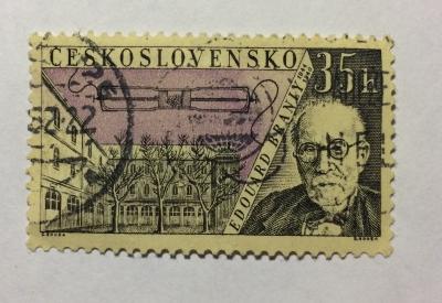 Почтовая марка Чехословакия (Ceskoslovensko ) Eduard Branly (1844-1940) | Год выпуска 1959 | Код каталога Михеля (Michel) CS 1172-2