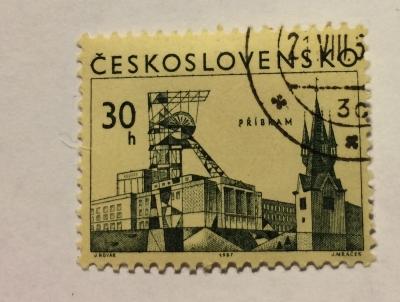 Почтовая марка Чехословакия (Ceskoslovensko ) Příbram | Год выпуска 1967 | Код каталога Михеля (Michel) CS 1723