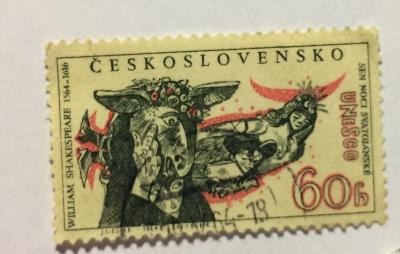 Почтовая марка Чехословакия (Ceskoslovensko ) Postavy Shakespearova Snu noci Svatojánské | Год выпуска 1964 | Код каталога Михеля (Michel) CS 1460-2
