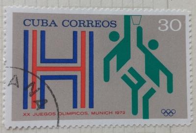 Почтовая марка Куба (Cuba correos) Basketball | Год выпуска 1971 | Код каталога Михеля (Michel) CU 1796