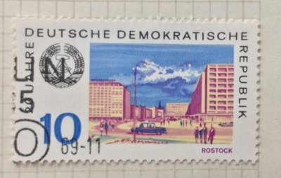 Почтовая марка ГДР (DDR) Rostock | Год выпуска 1969 | Код каталога Михеля (Michel) DD 1495
