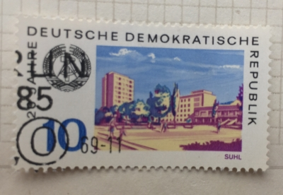 Почтовая марка ГДР (DDR) Suhl | Год выпуска 1969 | Код каталога Михеля (Michel) DD 1502