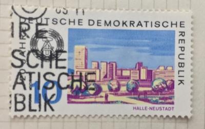 Почтовая марка ГДР (DDR) Halle-Neustadt | Год выпуска 1969 | Код каталога Михеля (Michel) DD 1501