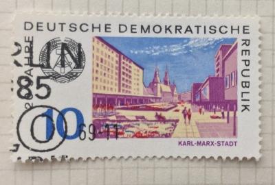 Почтовая марка ГДР (DDR) Karl-Marx-Stadt | Год выпуска 1969 | Код каталога Михеля (Michel) DD 1505