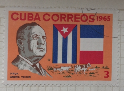 Почтовая марка Куба (Cuba correos) André Voisin (1903-1964), French agronomist and science writ | Год выпуска 1965 | Код каталога Михеля (Michel) CU 1110