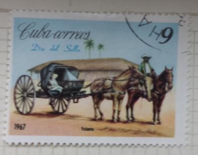Почтовая марка Куба (Cuba correos) Carriages-Volante | Год выпуска 1967 | Код каталога Михеля (Michel) CU 1288