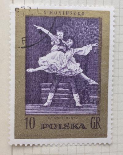 "Почтовая марка Польша (Polska) ""In the Barracks"" (ballet) | Год выпуска 1972 | Код каталога Михеля (Michel) PL 2174"