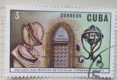 Почтовая марка Куба (Cuba correos) Birthplace, torun, and inventions | Год выпуска 1973 | Код каталога Михеля (Michel) CU 1874