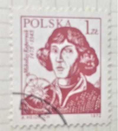 Почтовая марка Польша (Polska) Nicolaus Copenicus(1473-1543), astronomer | Год выпуска 1971 | Код каталога Михеля (Michel) PL 2230