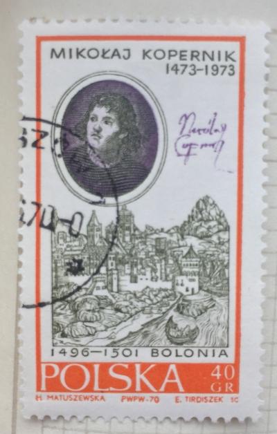 Почтовая марка Польша (Polska) By Bacciarelli and View of Bologna | Год выпуска 1970 | Код каталога Михеля (Michel) PL 2014