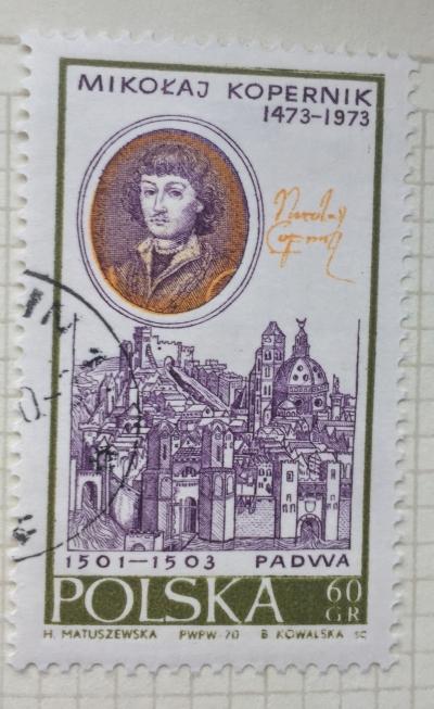 Почтовая марка Польша (Polska) By W.Lesseur and view of Padua | Год выпуска 1970 | Код каталога Михеля (Michel) PL 2015