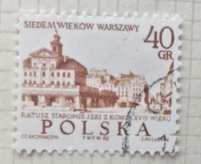 Почтовая марка Польша (Polska) Old Town Hall, 18th Cent. | Год выпуска 1965 | Код каталога Михеля (Michel) PL 1600