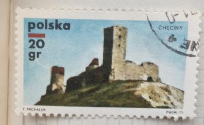 Почтовая марка Польша (Polska) Checiny Castle | Год выпуска 1971 | Код каталога Михеля (Michel) PL 2058
