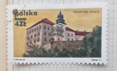 Почтовая марка Польша (Polska) Pieskowa Skala   Год выпуска 1971   Код каталога Михеля (Michel) PL 2064