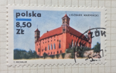 Почтовая марка Польша (Polska) Lidzbark Warminski   Год выпуска 1971   Код каталога Михеля (Michel) PL 2065
