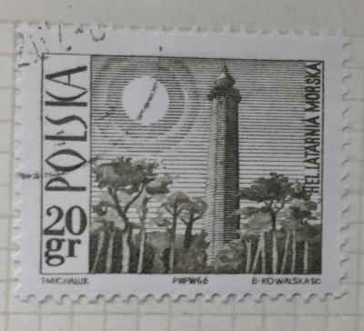 Почтовая марка Польша (Polska) Lighthouse, Hel | Год выпуска 1966 | Код каталога Михеля (Michel) PL 1706