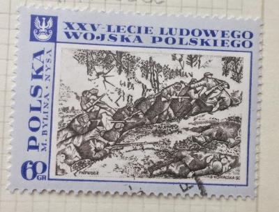 Почтовая марка Польша (Polska) Battle on the Neisse, by M. Bylina | Год выпуска 1968 | Код каталога Михеля (Michel) PL 1877