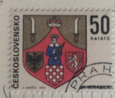 Почтовая марка Чехословакия (Ceskoslovensko ) Hranice | Год выпуска 1969 | Код каталога Михеля (Michel) CS 1905