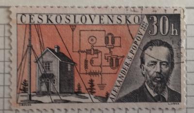 Почтовая марка Чехословакия (Ceskoslovensko) Alexander S. Popov (1859-1905) | Год выпуска 1959 | Код каталога Михеля (Michel) CS 1171