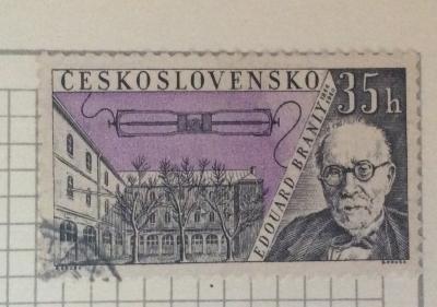 Почтовая марка Чехословакия (Ceskoslovensko) Eduard Branly (1844-1940) | Год выпуска 1959 | Код каталога Михеля (Michel) CS 1172