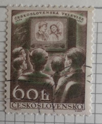 Почтовая марка Чехословакия (Ceskoslovensko) Czechoslovak Television | Год выпуска 1957 | Код каталога Михеля (Michel) CS 1045