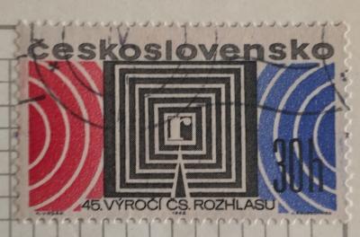 Почтовая марка Чехословакия (Ceskoslovensko) 45 years Czechoslovakian Radio | Год выпуска 1968 | Код каталога Михеля (Michel) CS 1779