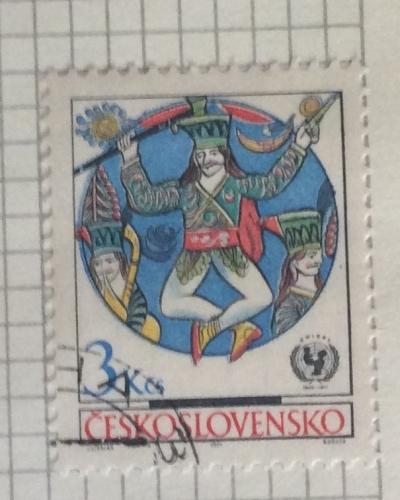 Почтовая марка Чехословакия (Ceskoslovensko) Wooden toys and crafts | Год выпуска 1971 | Код каталога Михеля (Michel) CS 2044