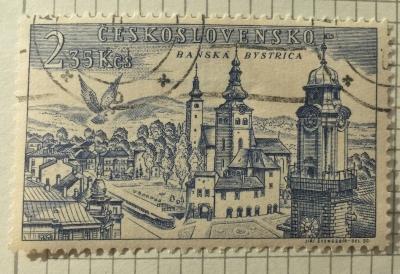 Почтовая марка Чехословакия (Ceskoslovensko ) Banská Bystrica | Год выпуска 1955 | Код каталога Михеля (Michel) CS 896