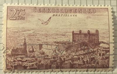 Почтовая марка Чехословакия (Ceskoslovensko ) Bratislava | Год выпуска 1955 | Код каталога Михеля (Michel) CS 897