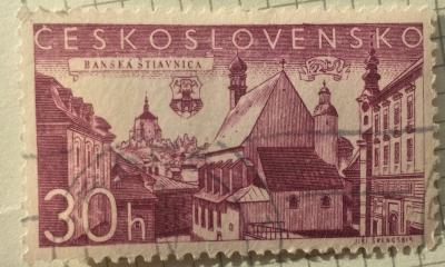 Почтовая марка Чехословакия (Ceskoslovensko ) Banská Štiavnica | Год выпуска 1957 | Код каталога Михеля (Michel) CS 1003